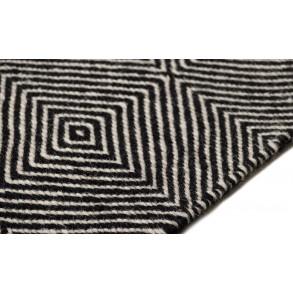 Χαλί Herringbone Square Μαύρο/Λευκό