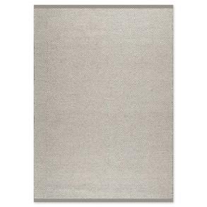 Χαλί Herringbone Square Λευκό/Γκρι