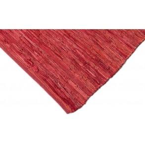 Χαλί Leather Κόκκινο