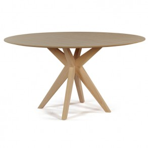 Design τραπεζαρία με ιδιαίτερη ξύλινη βάση