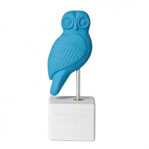 Owl Heron light blue