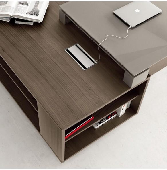 Γωνιακό γραφείο με ενσωματωμένο ντουλάπι
