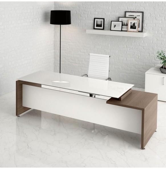 Γραφείο με γυάλινη επιφάνεια