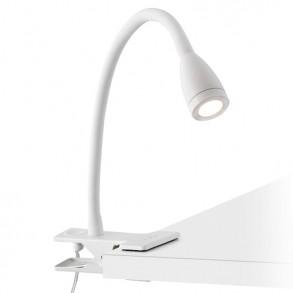 Φωτιστικό απλίκα με κλιπ σε λευκό χρώμα