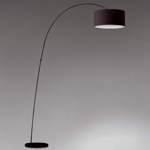 Design φωτιστικό δαπέδου σε μαύρο χρώμα