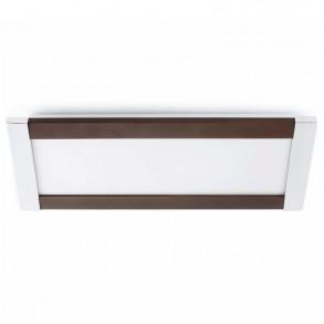 Μοντέρνο φωτιστικό οροφής σε καφέ χρώμα