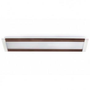 Τετράφωτο φωτιστικό οροφής σε απόχρωση χρώμιο-καφέ