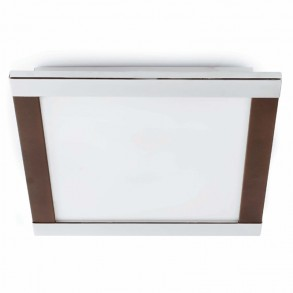 Design φωτιστικό οροφής σε καφέ χρώμα 42x42