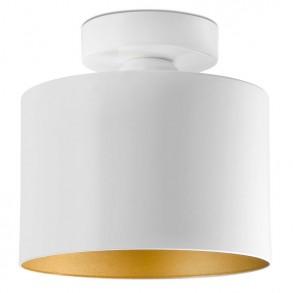 Design φωτιστικό οροφής από μέταλλο σε λευκό-χρυσό χρώμα