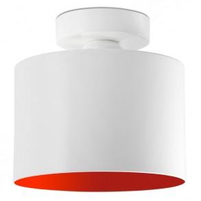 Design φωτιστικό οροφής από μέταλλο σε λευκό-κόκκινο χρώμα