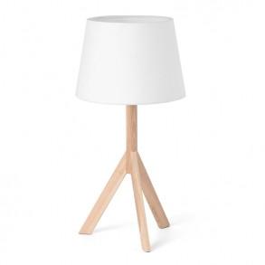 Επιτραπέζιο φωτιστικό με ξύλινη βάση