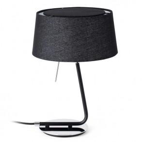 Μαύρο υφασμάτινο επιτραπέζιο φωτιστικό
