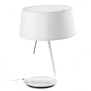 Επιτραπέζιο φωτιστικό design σε λευκή απόχρωση