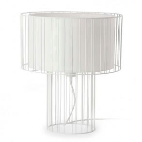 Λευκό μεταλλικό επιτραπέζιο φωτιστικό