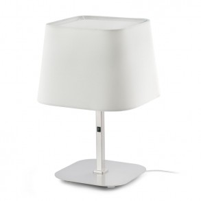Design επιτραπέζια λάμπα με λευκό καπέλο