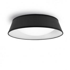 Φωτιστικό οροφής Φ90 πλαφονιέρα μαύρη Led