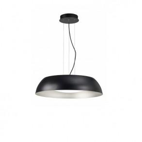 Φωτιστικό οροφής Φ45 LED μονόφωτο από μέταλλο και ακρυλικό μαύρο