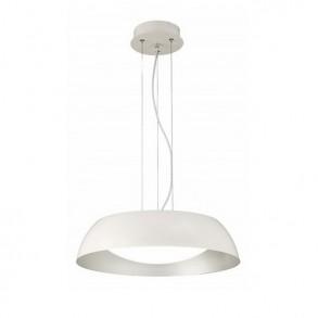 Φωτιστικό οροφής Φ60 LED μονόφωτο από μέταλλο και ακρυλικό λευκό