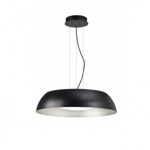 Φωτιστικό οροφής Φ60 LED μονόφωτο από μέταλλο και ακρυλικό μαύρο