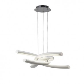 Φωτιστικό οροφής LED μονόφωτο από πολυμερές και ακρυλικό λευκό