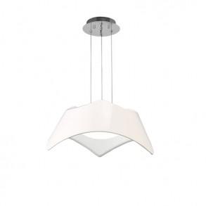 Φωτιστικό οροφής Led μονόφωτο πολυμερές λευκό design