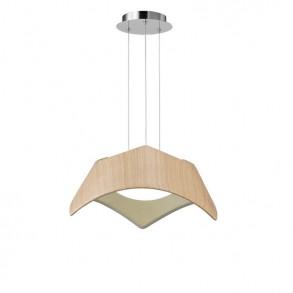 Φωτιστικό οροφής Led μονόφωτο πολυμερές ξύλο design
