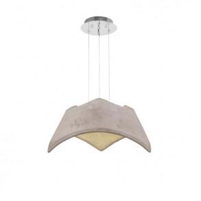 Φωτιστικό οροφής Led μονόφωτο τσιμεντένιο design