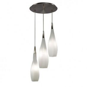 Φωτιστικό οροφής τρίφωτο από  μέταλλο και γυαλί