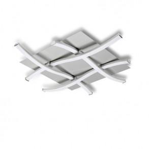 Φωτιστικό οροφής LED με από μέταλλο και γυαλί