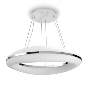 Φωτιστικό οροφής Led  λευκό από μεταλλο και γυαλί