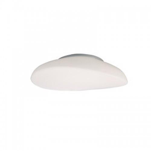 Πλαφονιέρα φωτιστικό οροφής τετράφωτη λευκή από χρώμιο και γυαλί