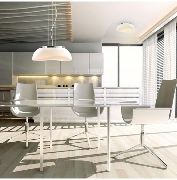 Πλαφονιέρα φωτιστικό οροφής μοντέρνα μονόφωτη λευκή