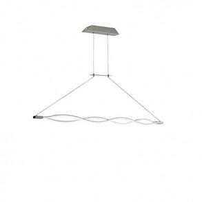Φωτιστικό οροφής Led μονόφωτο λευκό design από μεταλλο και γυαλί
