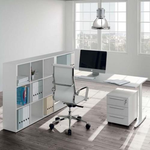 Μοντέρνο γραφείο με ενσωματωμένη βιβλιοθήκη