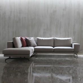 Design γωνιακή σύνθεση με μεταλλικά πόδια