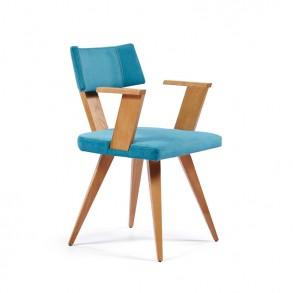 Καρέκλα τραπεζαρίας με ξύλινα μπράτσα