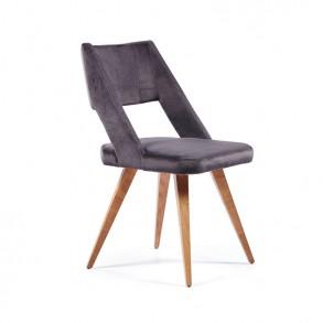 Καρέκλα τραπεζαρίας ξύλινη με μοντέρνο σχεδιασμο πλάτης