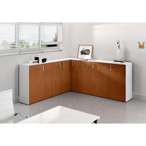 Χαμηλό γωνιακό ντουλάπι γραφείου