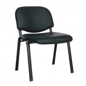Κάθισμα επισκέπτου σε μαύρο δέρμα