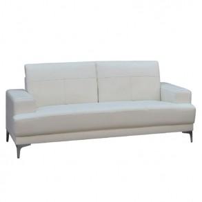 Τριθέσιος δερμάτινος καναπές