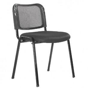 Κάθισμα επισκέπτου μαύρο